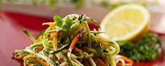 zucchini asian slaw 31620 of Gluten Free Recipes Savoury, Healthy Recipes, Asian Slaw, Chili Oil, Roasted Garlic, Seaweed Salad, Salad Dressing, Food Photo