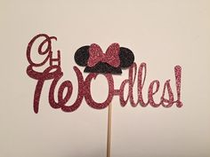 oh TWO dles Minnie Mouse cake topper for 2nd Birthday Party, Photo Shoot, Oh Toodles Black & Pink Black and red boy girl