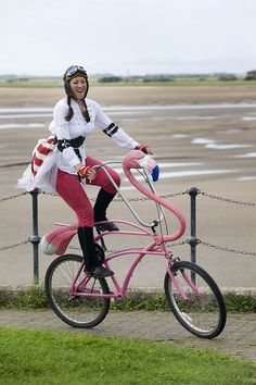Big Pink Flamingo Bike~♛ I love this!
