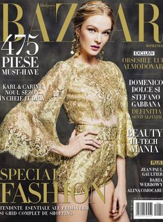 Dolce&Gabbana Spring Summer 2014, Harper`s Bazaar Romania March - April 2014 Cover