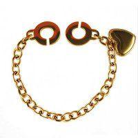 NR3239GOC Srdce - náramok z chirurgickej ocele Swarovski, Gold Necklace, Jewelry, Gold Pendant Necklace, Jewlery, Jewerly, Schmuck, Jewels, Jewelery