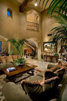 Mediterranean Home Design Mediterranean Living Rooms, Mediterranean Decor, Tuscan Design, Tuscan Style, Home Design Decor, House Design, Home Decor, World Decor, Tuscan Decorating