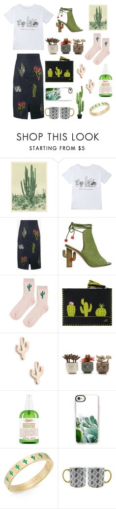 """""""Prickly Love."""" by mered1th ❤ liked on Polyvore featuring STELLA McCARTNEY, Topshop, Jan Constantine, Sole Society, Kiehl's, Casetify, Kate Spade and TMD"""