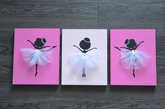 Unique and original wall art hand painted just for you! Ballerina Silhouette, Ballerina Art, Nursery Wall Art, Nursery Decor, Diy Home Crafts, Arts And Crafts, Ballerina Birthday Parties, Acrylic Pouring Art, Kids Room Art
