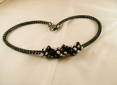 OOAK, A night at the Opera  Embellished Viking Knit in shades of black and grey.. $75.00, via Etsy.