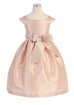aurora sash dupioni dress It says the color is blush.. Kids formal $69
