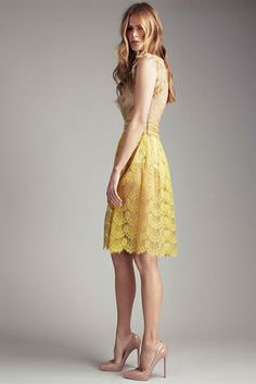 collette dinnigan spring summer 2012 - lemony yellow lace!