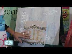 Mix Media!! Hermoso cuadro muy colorido nos enseña Gaby!! - YouTube
