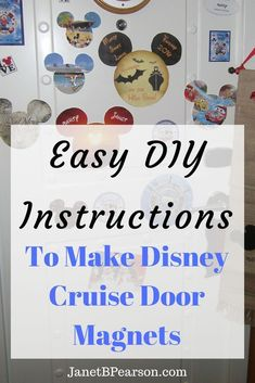 cruise travel - Easy Steps For DIY Disney Cruise Door Magnets To Decorate Your Cabin Disney Cruise Door, Disney Cruise Tips, Disney Diy, Disney Magic, Disney Crafts, Disney Dream, Disney Stuff, Walt Disney, Cruise Travel