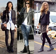 Fashion Combat Boots For Women - Boot Hto