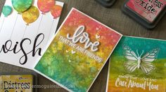 Jennifer McGuire's Introduction to Distress Oxide Inks and LOTS of Card ...