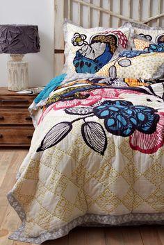 Anthropologie big pattern. #bedrooms