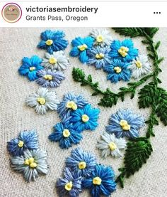 Gotta love those blue tones! Embroidery Stitches, Hand Embroidery, Little Stitch, Blue Tones, Needlework, Elsa, Projects To Try, Cross Stitch, Diy Crafts
