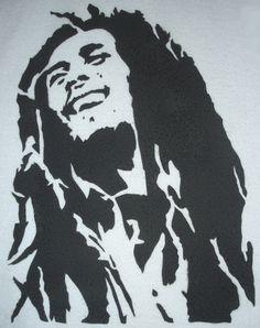Bob marley stencils for Cuadros bob marley