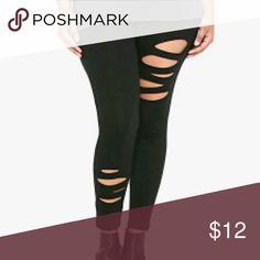 Torrid slashed leggings Never worn but tags were taken off torrid Pants Leggings