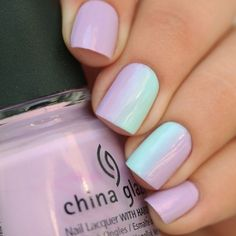 Modest nails, Ombre, Ombre on short nails, Pastel spring summer nails 2016, Purple nails, Steady nails, Trim nails, Universal nails
