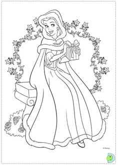 find this pin and more on coloring pages christmas disney princess coloring pages - Princess Coloring Pages Printables