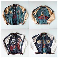 TOYO Tailor Vintage Japanese Sukajan Jacket - Dragon American Indian Chief Rider Biker Motorcycle Bike Japanese Geisha Maiko Fujisan Mt Fuji Landscape - Japan Lover Me Store