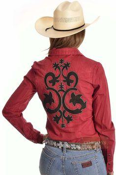 9d0415a39ba19 camisa feminina manga longa importada com botoes de pressao p6210 - Busca  na Loja Cowboys - Moda Country