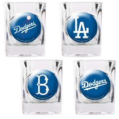 Great American Products MLB Square Shot Glass 4 Piece Set (Individual Logos)