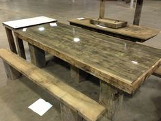 Old barn wood picnic table Good Idea to put the glass on top! Description from pinterest.com. I searched for this on bing.com/images
