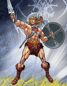 He-Man screenshots, images and pictures - Comic Vine Comic Movies, Comic Book Characters, Marvel Characters, Man Character, Comic Character, He Man Desenho, He Man Thundercats, 1980 Cartoons, Minions