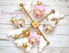 Baby mobile, nursery mobile, baby mobile sheep von KarapuzMobile auf DaWanda.com