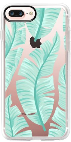 Casetify iPhone 7 Plus Case and other Leaf iPhone Covers - Pastel Tropical Banana Leaf by Marta Olga Klara | Casetify