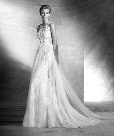 Vintage, vestido de novia escote corazón, estilo romántico