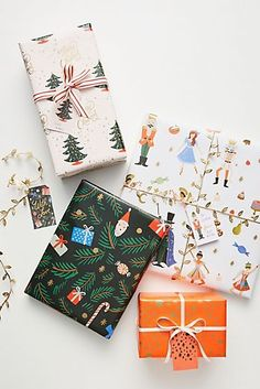Rifle Paper Co. for Anthropologie Holiday Wrapping Book by in Assorted, Stationery Rifle Paper Co. for Anthropologie Holiday Wrapping Paper Book Holiday Gifts, Christmas Gifts, Christmas Time, Christmas Decorations, Christmas Packages, Christmas Ornaments, Holiday Decor, Santa Gifts, Modern Christmas