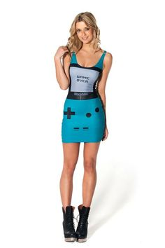 Gamer Turquoise Dress by Black Milk Clothing