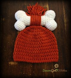 Pebbles Flintstone hat Sizes Newborn to by SeasonGirlStitches