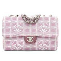Chanel Pink Canvas Travel Line Flap Handbag - $699.99