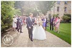 The end of the wedding ceremony at Dowing College, Cambridge