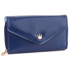 Women's PU Leather Crown Pouch Bag Phone key card bag