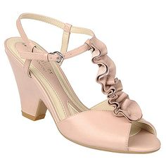 naturalizer adlie vintage mauve shoe..cute with a vintage button down on the ruffle by the toe even some lace possibly