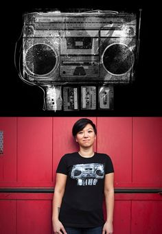 """Threadless tee """"DOOMBOX"""" by Brian Walline - released March 27, 2012"""
