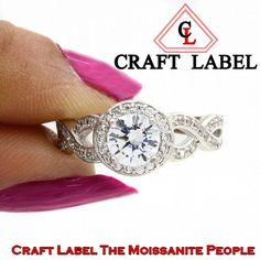 """2.00 Ct Round Brilliant Cut 14K Gold Halo Engagement Ring """"Mother\'s Day Gift"""". Starting at $1"""