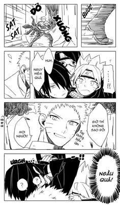 Naruto And Sasuke Kiss, Sarada Uchiha, Naruto Cute, Naruto Shippuden Sasuke, Sasunaru, Narusasu, Funny Naruto Memes, Naruto Comic, Boruto Naruto Next Generations