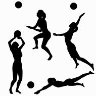 Volleyball Silhouette Collection
