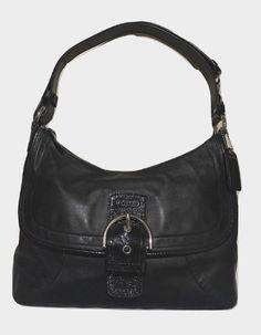 fd04deb6de Coach Purse Soho Black Leather Hobo Shoulder Bag 19580 | eBay Black Leather  Coach Purse,