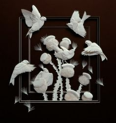 Make bas relief paper sculpture like this one from Canadian artist Calvin Nicholls