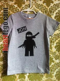 LEGO Ninjago - Your Name - Screen printed t-shirt - Personalized. $21.00, via Etsy.