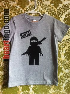 LEGO Ninjago - Your Name - Screen printed t-shirt - Personalized. $21.00, via Etsy.