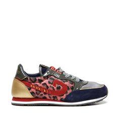 Top Cruyff Vondelpark Victoria sneakers (Rood) Sneakers van het merk Cruyff voor Dames . Uitgevoerd in Rood gemaakt van Nylon;;Leer.