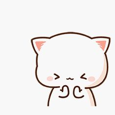 蜜桃猫 Cute Kawaii Animals, Kawaii Cat, Cute Bear Drawings, Kawaii Drawings, Cute Love Cartoons, Cute Cartoon, Cute Images, Cute Pictures, Grey And White Cat