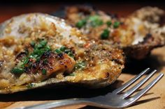 Char-grilled Oyster - Herb Butter, Parmesan Cheese, Brioche Crumbs Fish Recipes, Seafood Recipes, Cooking Recipes, Grilled Beef Tenderloin, Grilled Oysters, Oyster Recipes, Restaurant Week, Herb Butter, Chicago Restaurants