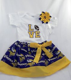 6189c322b Minnesota Vikings NFL Embroidered one piece bodysuit
