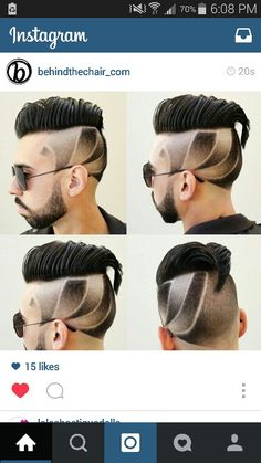 √ New Short Hairstyles 2015 . 15 New Short Hairstyles 2015 . Haircut Designs For Men, Boys Haircut Styles, Cool Haircuts, Haircuts For Men, Short Haircuts, Corte Hipster, Hair And Beard Styles, Short Hair Styles, Mohawk Hairstyles Men