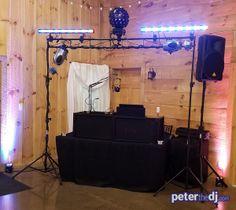 Dj Peter Naughton S Setup For Tiffany And Matt Wedding On The Lower Level At Wolf Oak